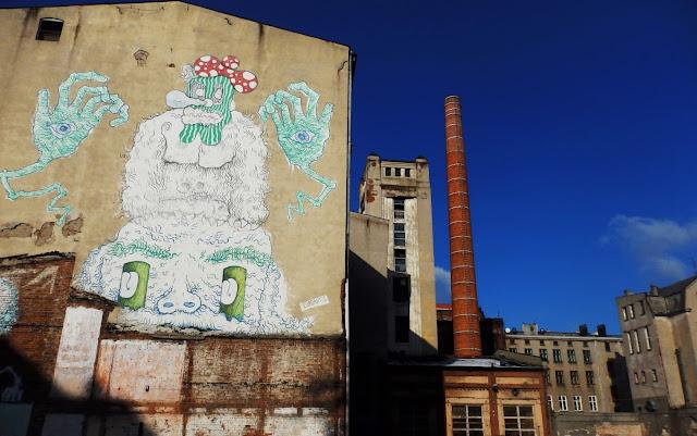 Łódź fabryczna, listopad 2016.