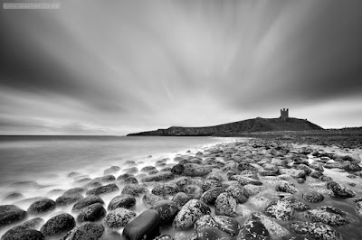 Dunstanburgh boulders long exposure