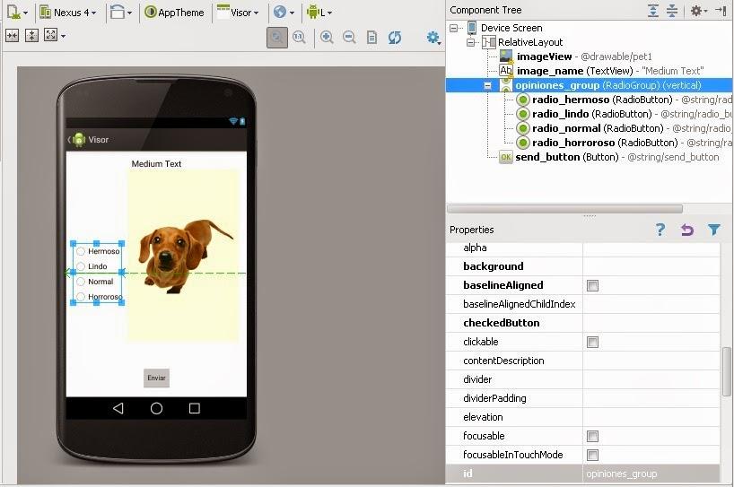 RadioButtons en nuestra aplicación Android