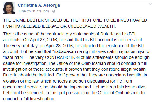 Former AdMU prof to Duterte: 'If proven, He should be Impeached'