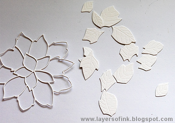 Layers of ink - World Cardmaking Day Tutorial by Anna-Karin, with Dina Wakley Ranger Ink Scribble Sticks