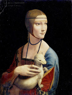 Another Da Vinci portrait, Lady with an Ermine, which some experts believe is superior.