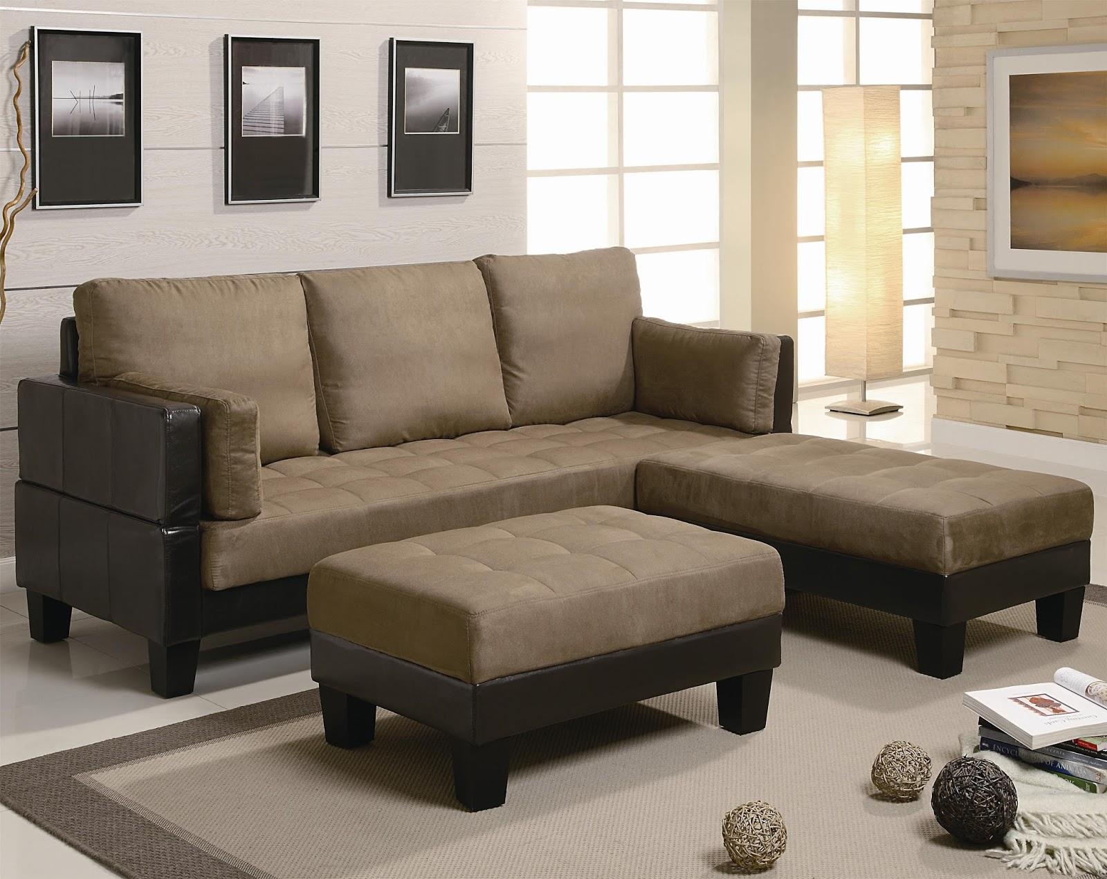 Muebles Moriano: Ellesmere contemporáneo Sofá cama con 2 otomanos