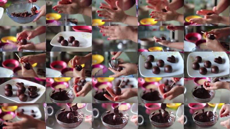 How to make cake pops step by step at home without oven for kids