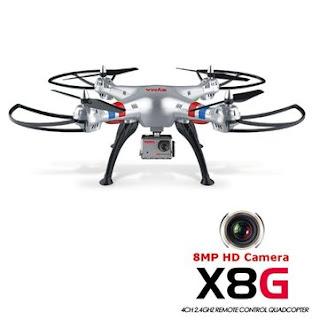 Harga dan Spesifikasi Syma X8G 2.4G 4CH, Drone Dengan 8 Megapixel Camera Terbaru 2017-2018