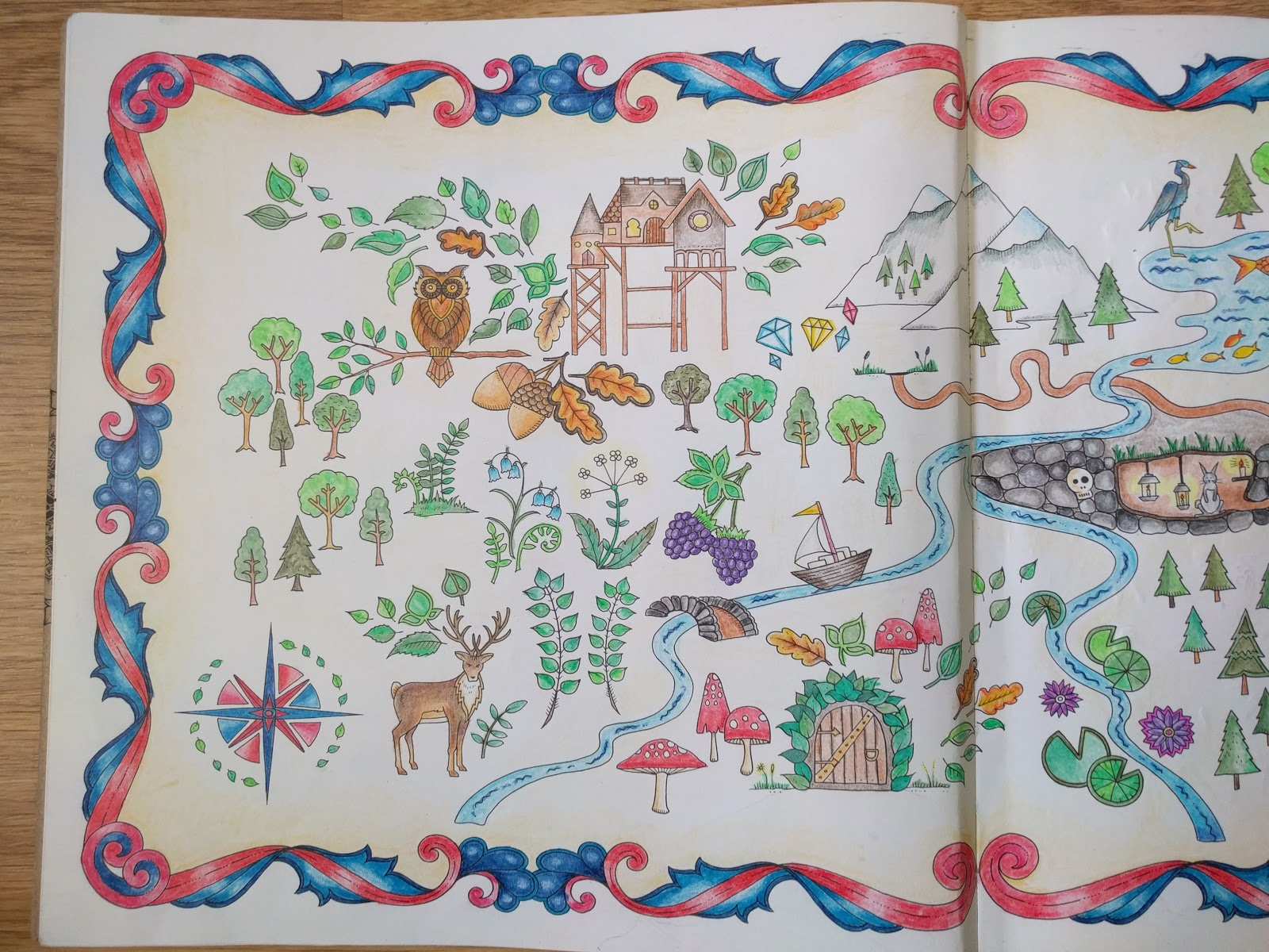 70 Enchanted Forest Coloring Book Map Take A Peek