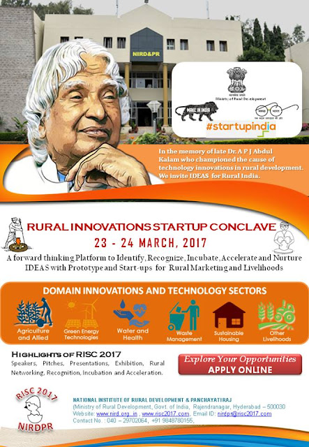 Applications Invited for Rural Innovators Startup Conclave Awards 2017