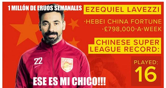 Pocho Lavezzi el jugador mejor pagado del Mundo un millón a la semana dolares euros libras