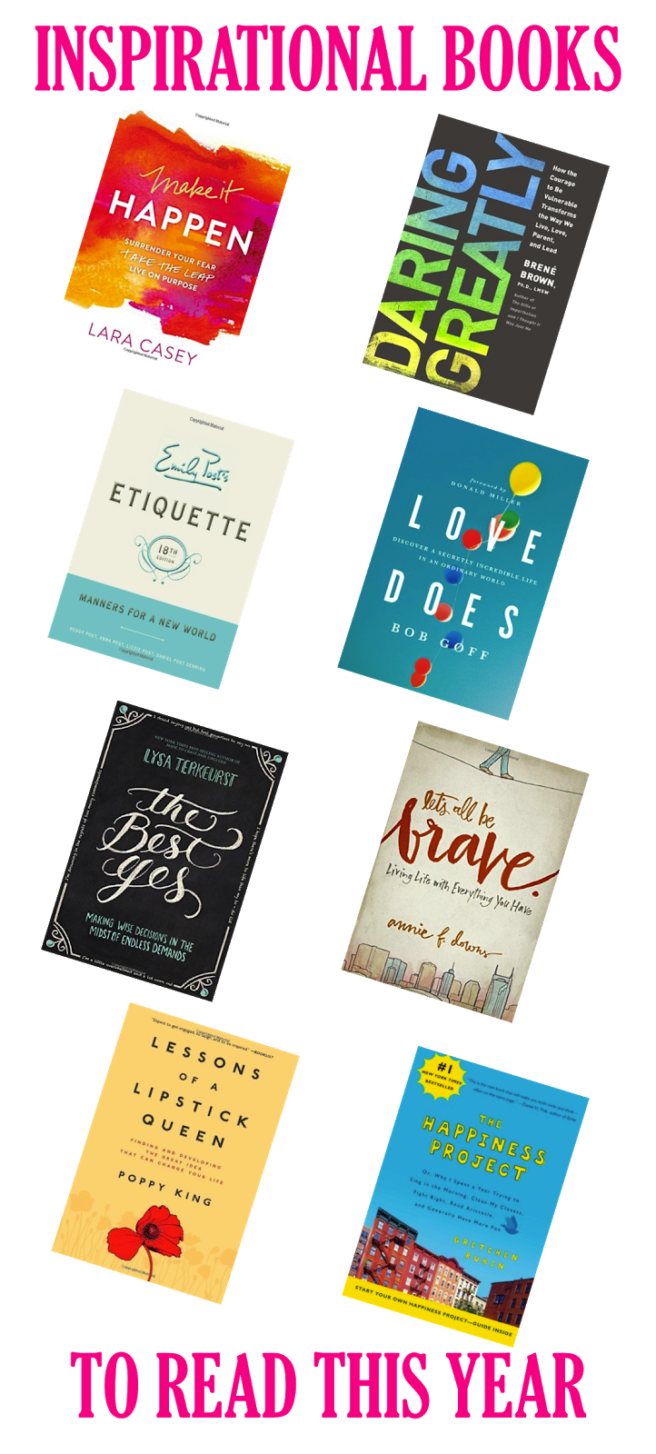 Inspirational Books To Read This Year | The Monogrammed ...
