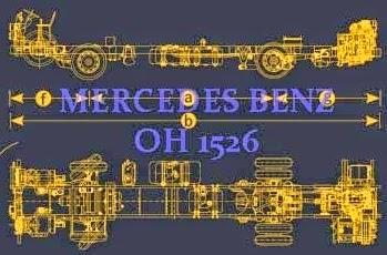 spesifikasi chassis bus Mercedes Benz 1526