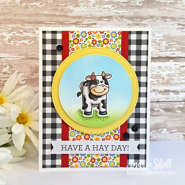 Sunny Studio Stamps: Barnyard Buddies Customer Card by Andrea Shell
