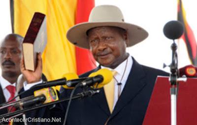 Presidente de Uganda Yoweri Museveni