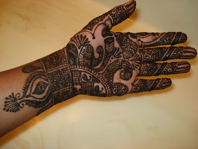 Mehndi Design With Peacock