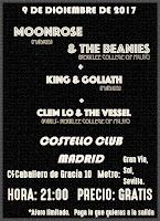 Concierto de Moonrose, & The Beanies, King & Gooliath y Clem lo & The Vessel en Costello Club