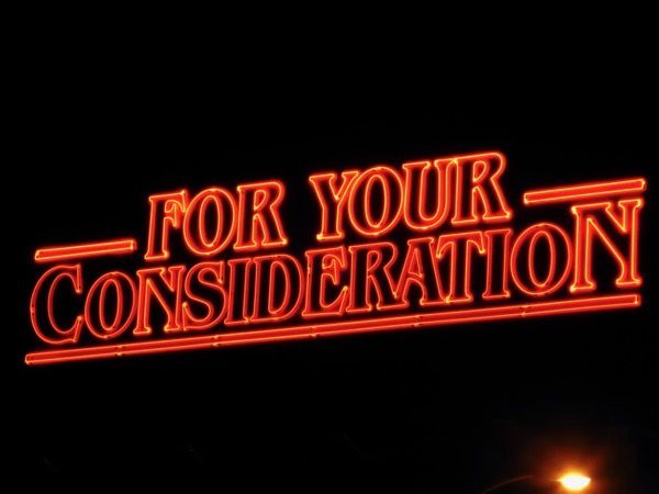 Stranger Things For Your Consideration neon sign billboard