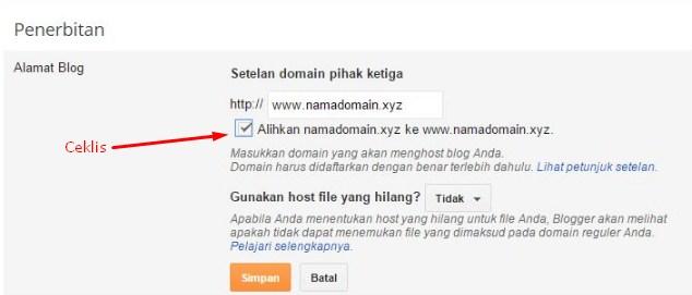 alihkan domain