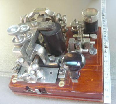 Stazione telegrafica portatile a tre linee in miniatura
