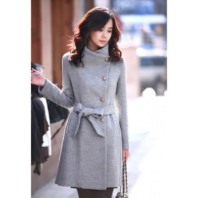 sobretudo feminino curto feminina mulher look inverno casaco lindo estiloso diferente estilo bonito moderno elegante moda quente cinza chique