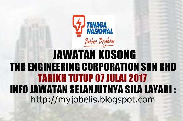 Jawatan Kosong di TNB Engineering Corporation Sdn Bhd Julai 2017