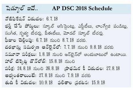 AP DSC 2018 Schedule