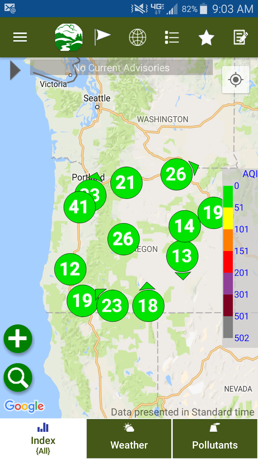 deq s air quality index is also on your smart phone just search for oregonair in your app store the vendor is envitech so you will see their name too