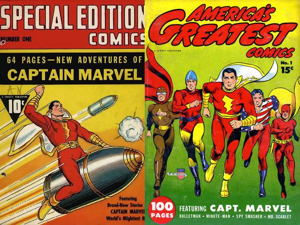 Resultado de imagem para captain marvel fawcett comics
