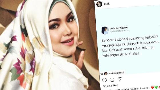 Netizen Indonesia Terkedu Tak Terkata Selepas Siti Nurhaliza Buka Mulut Isu Bendera Terbalik