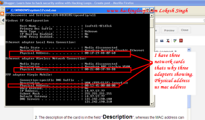 mac address view from ipconfig