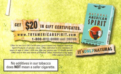 image regarding American Spirit Coupon Printable called Printable Cigarette Discount codes 2019: Free of charge American Spirit