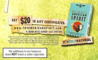 American Spirit Cigarette Coupons