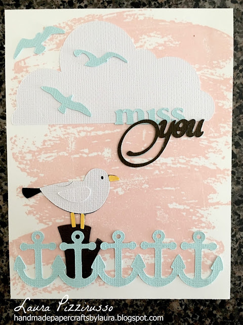 Seaside Seagull Missing You Card
