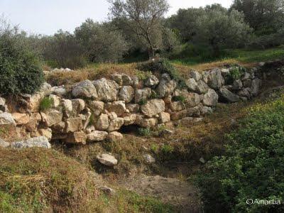Pont mycénien Nauplie Nafplio Argolide Peloponnèse Grèce