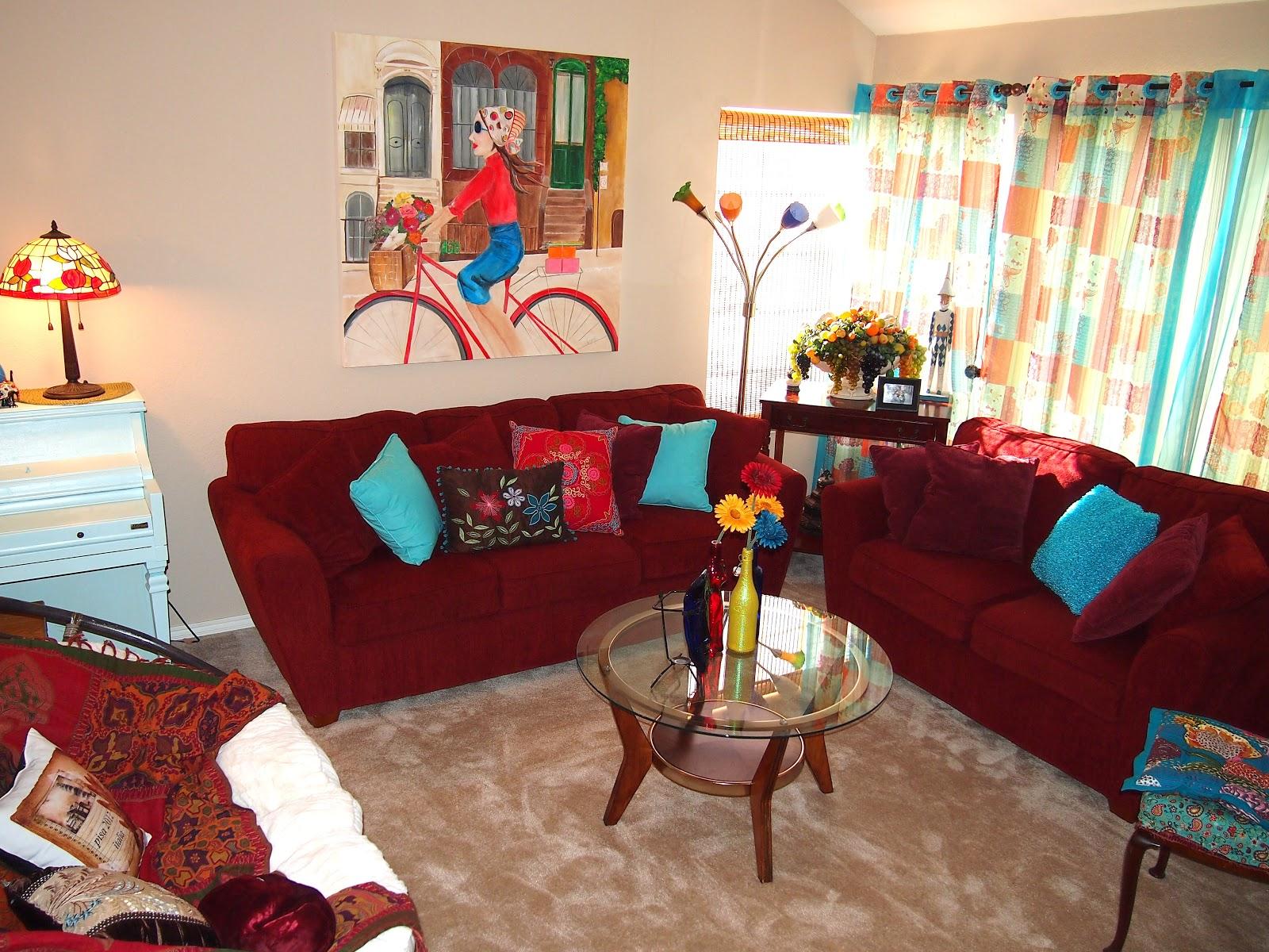 Living Room Decorating Ideas Maroon