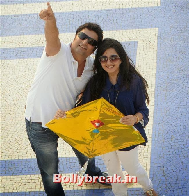 Farzad and Amy Billimoria, Amy Billimoria fly kites on Makar Sankranti