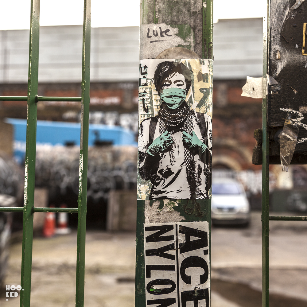 Eddie Colla, Street Art Stickers in London. Photo ©Hookedblog