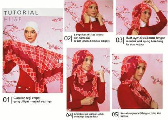 Tutorial Hijab Simple Modern ala Elzatta by Citra Kirana