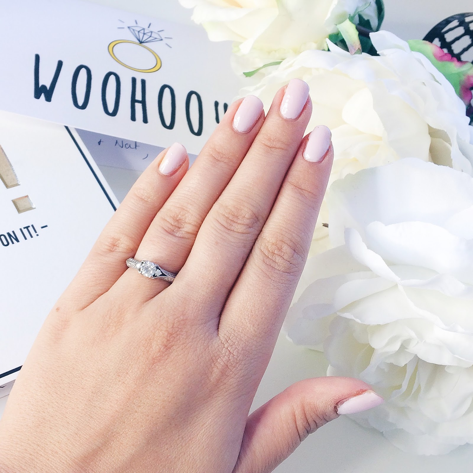Beauty, the engagement polish, engaged, Wedding Planning, Wedding, Engagement, Essie, Essie Minimalistic, Nail Polish, Nails, Proposal, Dizzybrunette3 Proposal