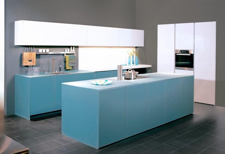 Cocinas integrales modernas en color celeste colores en casa - Cocinas anos 50 ...