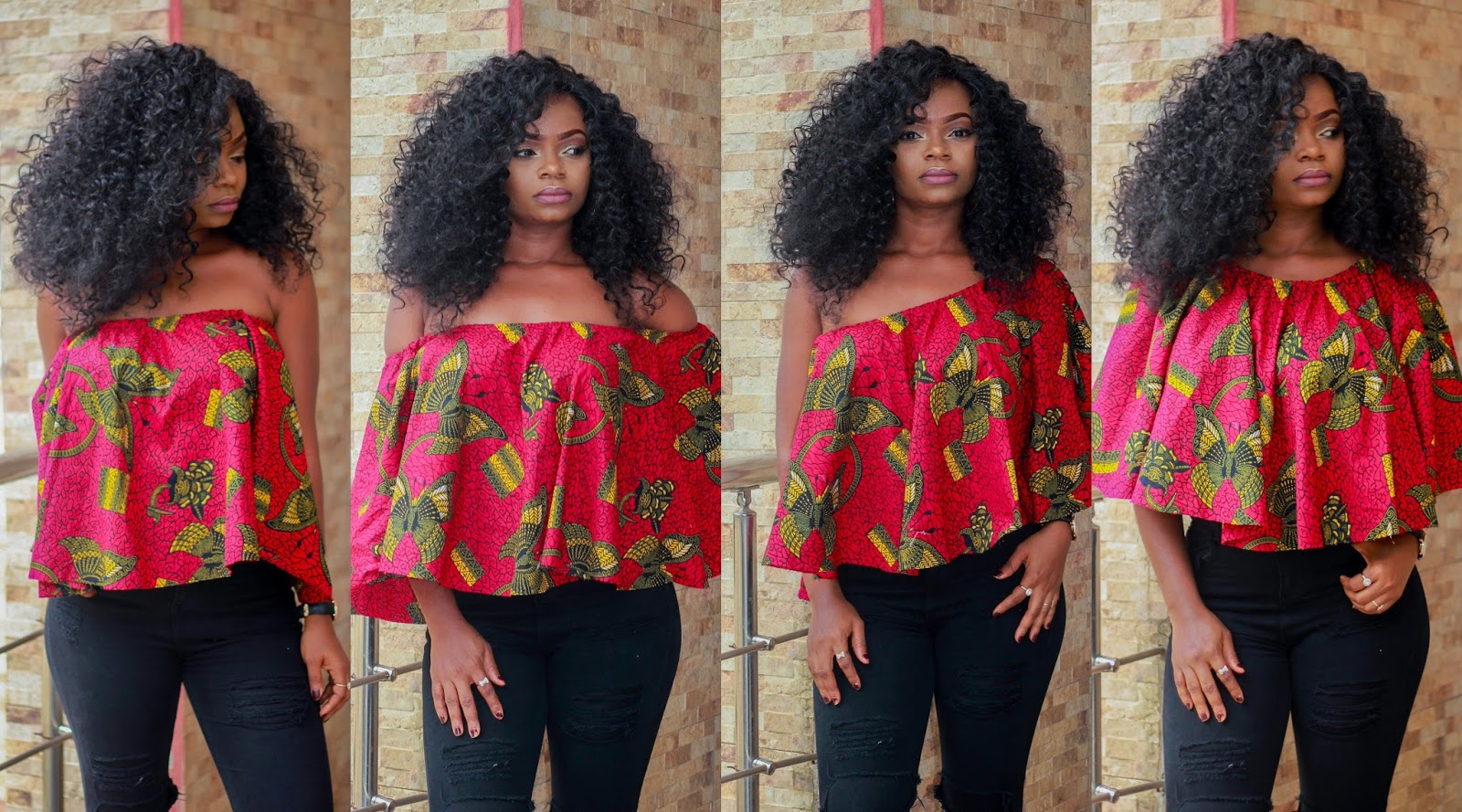 COLD SHOULDER - ANKARA - Ankara cold shoulder Top worn 4 different ways