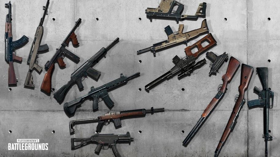 Pubg Rifles Weapons Playerunknown S Battlegrounds 4k Wallpaper 11