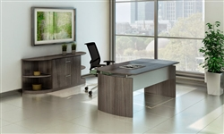 Gray Wood Desk