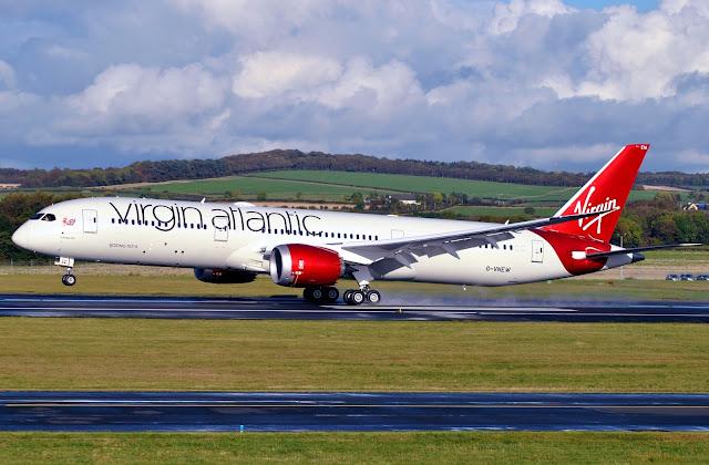Virgin Atlantic Airways Boeing 787-9 Touch Down
