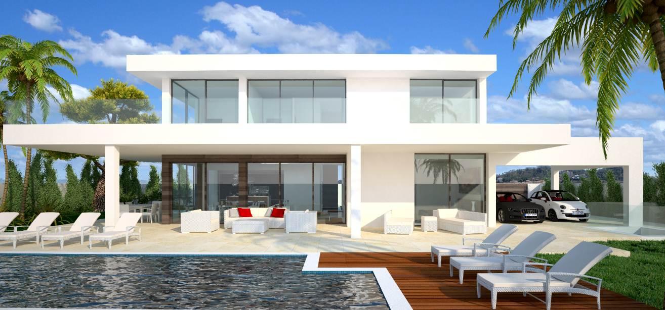 Casas modernas for Imagenes de casas con piscina modernas