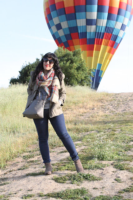 Hot Air Balloon Ride Blanket Scarf Outfit | Will Bake for Shoes