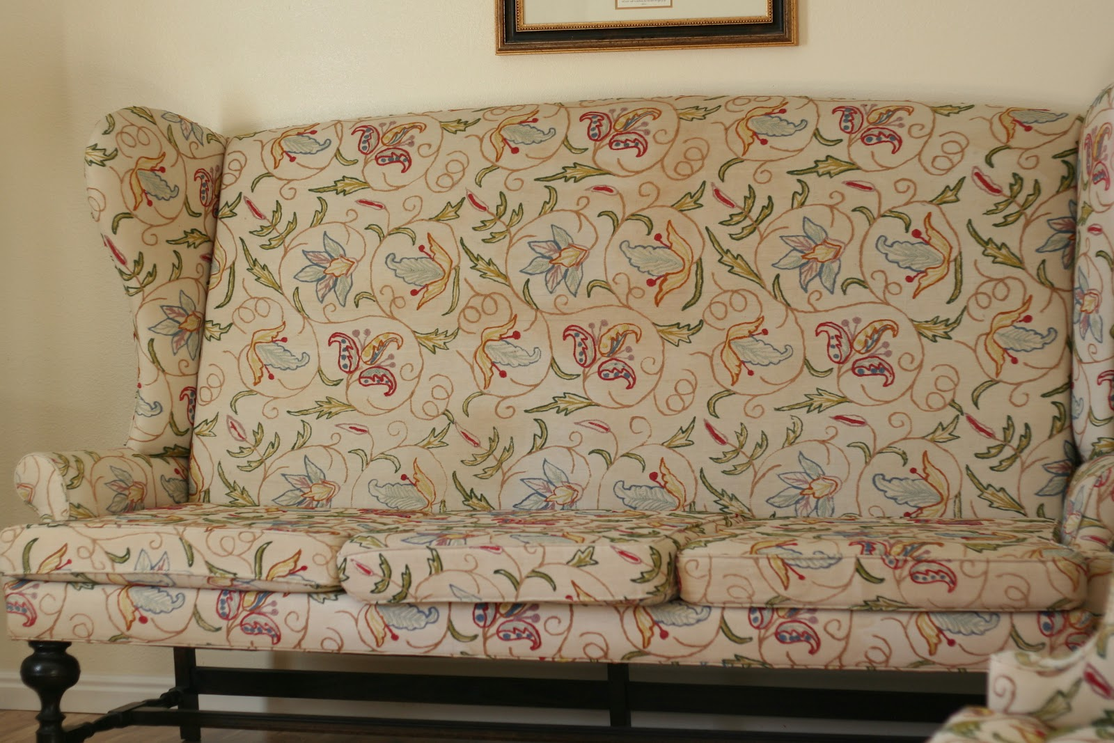 Custom Slipcovers By Shelley Tall Wingback Couches And
