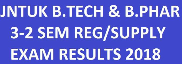 JNTUK B.Tech & B.Pharmacy 3-2 Sem Reg/Supply Results