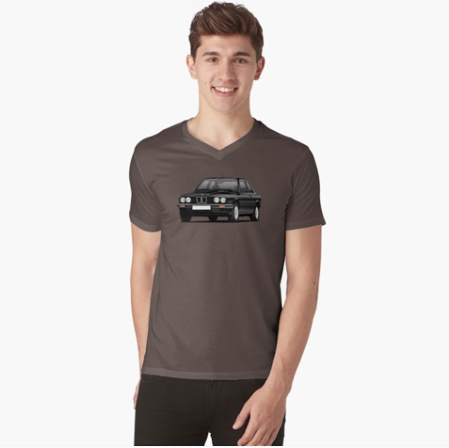 BMW E30 3-sarjalainen t-paita printtipaita