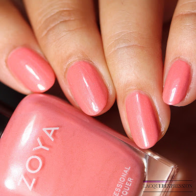 Nail polish swatch of Zoya Clementine from the Summer 2018 Sunshine Collection