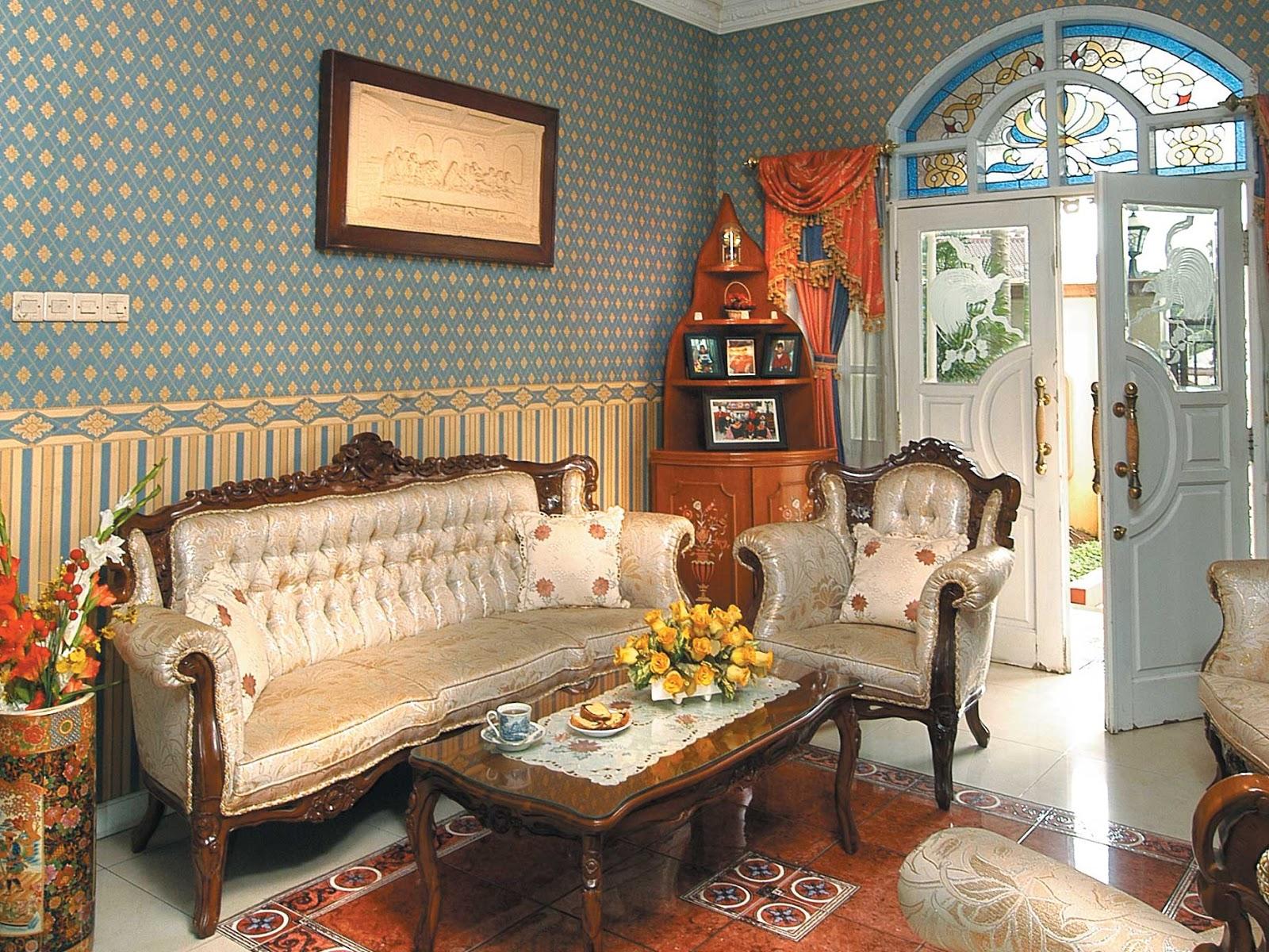 60 Desain Ruang Tamu Klasik Desainrumahnyacom