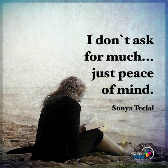 I Dont Ask For Much Just Peace Of Mind Quote 101 Quotes
